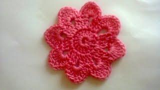 getlinkyoutube.com-Цветочный мотив (вязание крючком).  Floral motif (Crochet)
