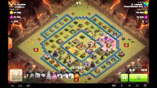 getlinkyoutube.com-[COC] todayhumor 2nd 클랜 10홀 지상 완파