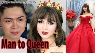 getlinkyoutube.com-Man To Woman - Makeup Transformation Boy To Beauty Queen ✔