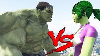 getlinkyoutube.com-HULK VS SHE-HULK - EPIC BATTLE