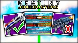 Destiny MYTHBUSTERS - Bonus Myths JOKE EDITION Episode 1 (Destiny Gameplay)