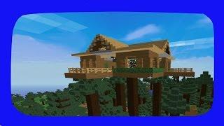 getlinkyoutube.com-Minecraft: Como Construir Uma Casa Na Árvore Moderna
