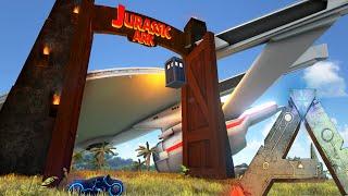 getlinkyoutube.com-Ark Survival Evolved - Star Trek Flying, Tron Bike, Tardis, Jurassic Ark (Gameplay)