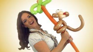 getlinkyoutube.com-Crazy Monkey Balloon Animal How To!