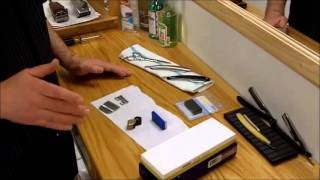 getlinkyoutube.com-Barber Shop Equipment Maintenance Clipper Blade Sharpening