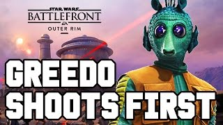 getlinkyoutube.com-GREEDO SHOOTS FIRST!! Star Wars Battlefront DLC Gameplay - Outer Rim / DLC Heroes (Season Pass PS4)