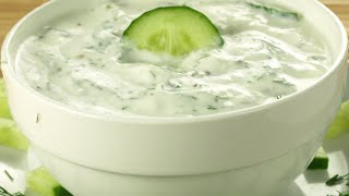 Tzatziki Arab Lebanese  style Cucumber Yoghurt dip (How to make Tzatziki)
