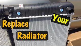 1995 96 97 98 99 GM Truck V8 Radiator Replacement (Chevy & GMC)