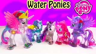 getlinkyoutube.com-MLP Water Cuties Glitter RARITY Pinkie Pie Luna  Rainbow Shimmer My Little Pony Toy Unboxing