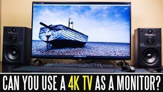 "getlinkyoutube.com-Can You Use A 40"" 4K 60HZ TV As A Computer Monitor?"