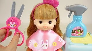 getlinkyoutube.com-Baby Doll hair cut & Make up toys
