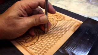 getlinkyoutube.com-KubotaCraft 2011.09 Wallte Carving 5th step for Basket & Border tooling