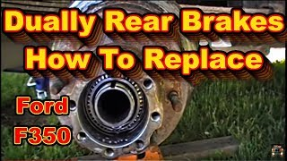 getlinkyoutube.com-Ford F350 Super Duty Powerstroke Dually Rear Brake Replacement