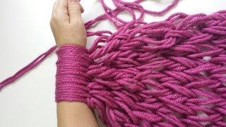 getlinkyoutube.com-Bufanda infinita con las manos / Infinite scarf with your hand( English Subtitles)