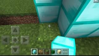 getlinkyoutube.com-Minecraft pe:วิธีสร้างกลไกประตูเมือง