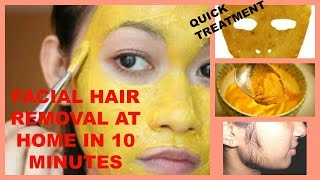 getlinkyoutube.com-How to Remove Facial Hair naturally at Home in 10 Minutes | Home remedies for facial hair.