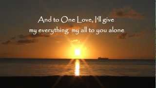 ONE LOVE with Lyrics from As For My House album by Rick and Cathy Riso.wmv