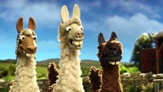 The llamas join Shaun the sheep on the farm - The Farmer's Llamas: Preview - BBC One Christmas 2015 width=