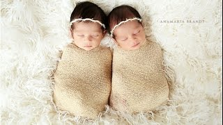 getlinkyoutube.com-Noor and Layla - Newborn Girl Twins Photographed by Ana Brandt