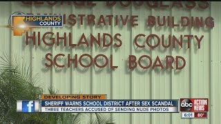 Sheriff warns school district after sex scandal