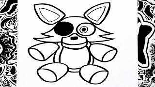 getlinkyoutube.com-Como dibujar a foxy peluche | how to draw foxy