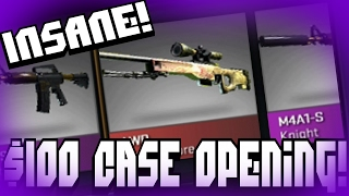 getlinkyoutube.com-CS:GO INSANE $100 CASE OPENING! | Cases4Real.com
