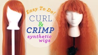 getlinkyoutube.com-Drag Queen Wig Styling Tip: How to curl or crimp your synthetic wig