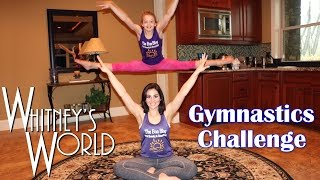 getlinkyoutube.com-Gymnastics Challenge | Gymnast and Not-a-Gymnast | Whitney & Gia