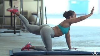 getlinkyoutube.com-18 Year Old HOT Crossfit Superstar Suzanne Svanevik Is A Beast In The Gym! (MUST SEE)