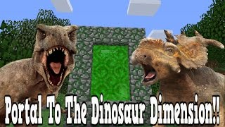 Minecraft How To Make A Portal To The Dinosaur Dimension - Dino Dimension Showcase!!!