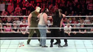 getlinkyoutube.com-THE WYATT FAMILY VS THE SHIELD FULL FIGHT