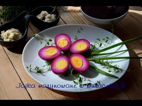Jajka marynowane w buraczkach