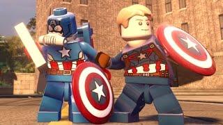getlinkyoutube.com-LEGO Marvel's Avengers - All 13 Captain America / Steve Rogers Variants + Free Roam