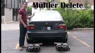 getlinkyoutube.com-E39 BMW M5 Muffler Delete (straight pipe) Facts and Amazing Sounds