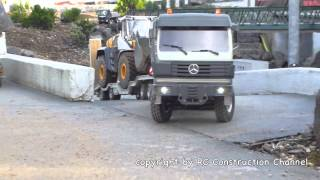 getlinkyoutube.com-POWERFUL RC TRUCK MERCEDES BENZ SK 6x6 TAMIYA AT THE CONSTRUCTION SITE