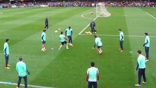 getlinkyoutube.com-FC Barcelona amazing training 2014 tiki-taka rondo show