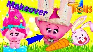getlinkyoutube.com-DreamWorks TROLLS Movie POPPY MAKEOVER into EASTER BUNNY