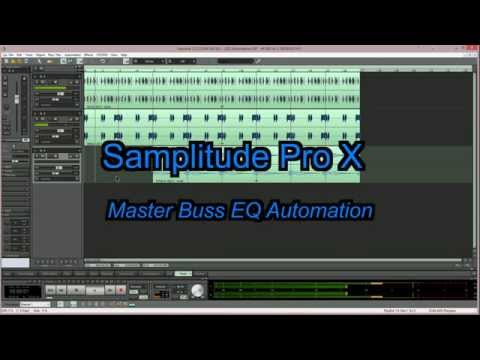 Samplitude Pro X : Master Buss EQ Automation