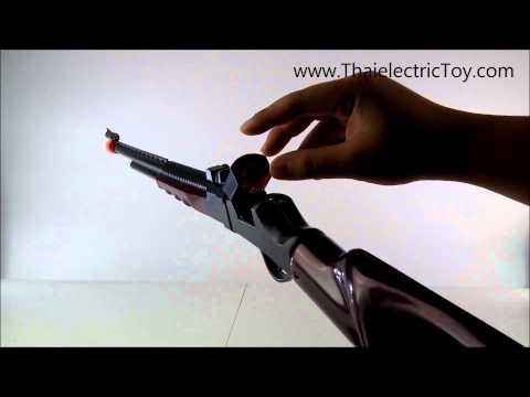 ปืนแก็ปยาวพลาสติก พร้อมแก็ป 1 ชุด ยิงเสียงดัง สวยงามน่าสะสม
