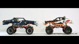 getlinkyoutube.com-LEGO Technic 9398 & 41999 crawler INDOOR comparison