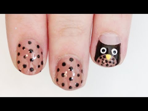 Easy Owl Nail Art | TotallyCoolNails