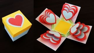 getlinkyoutube.com-Heart explosion box - learn how to make an easy exploding heart gift box from templates - EzyCraft