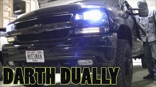 getlinkyoutube.com-New Headlights and LED Turn/Parking Lights for my 02 Silverado Dually Duramax