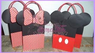 getlinkyoutube.com-Como hacer Bolsa Sorpresa Mickey y Minnie Cartulina - Bag Cardboard DIY