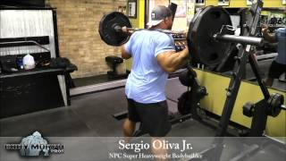 getlinkyoutube.com-Sergio Oliva Jr trains Legs at Quads Gym