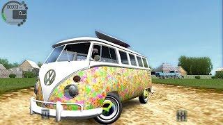 getlinkyoutube.com-City Car Driving 1.5.1 VW T1 Transporter Hippy Van [G27]