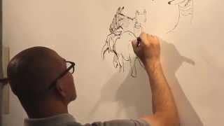 getlinkyoutube.com-KIM JUNG GI - Live Drawing in Paris
