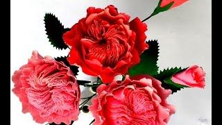 getlinkyoutube.com-Paper flowers David Austin Rose (flower # 105)