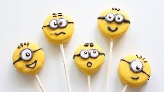 getlinkyoutube.com-Minion Cookie pops | Oreo Pops | No Bake
