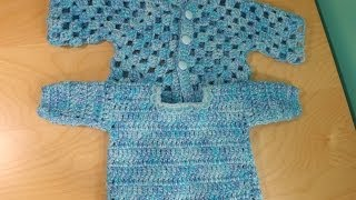 getlinkyoutube.com-Cochet baby sweater part 2 - with Ruby Stedman